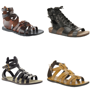 Gladiator Sandals; A trend best left to the ladies?
