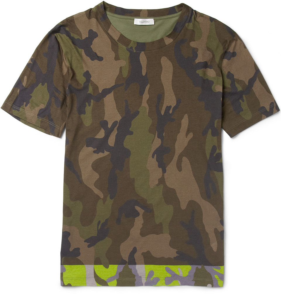 Valentino Camouflage Spring 2013 Collection At Mr Porter