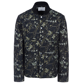 Patrik Ervell Forest Print Quilted Shirt Jacket