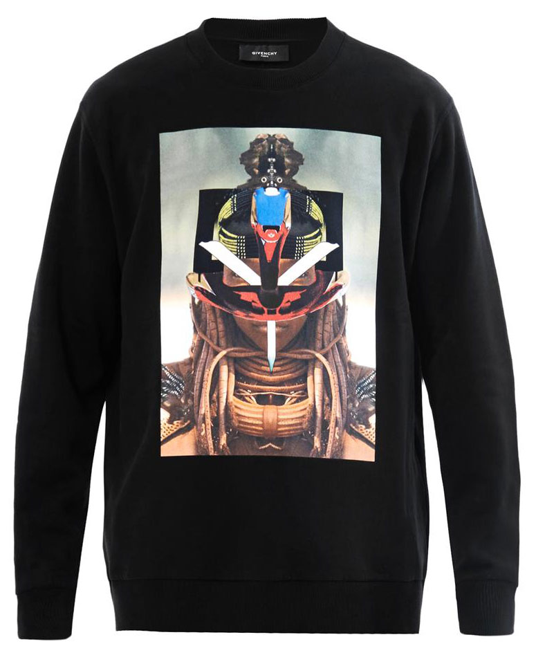 Givenchy SS14 Tribal Print Sweatshirt Black