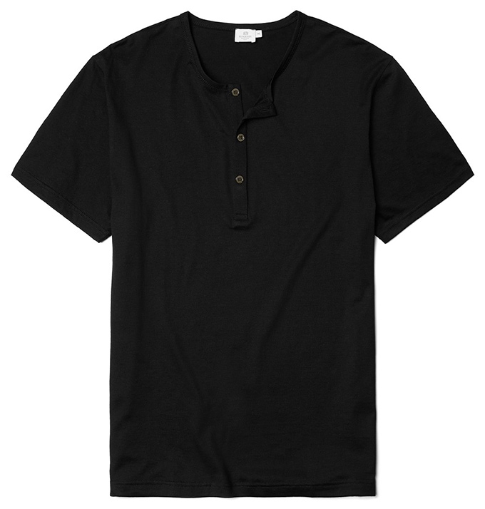 Sunspel Henley_Black