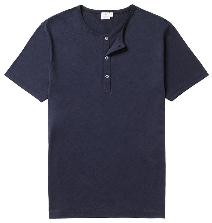 Sunspel Henley_Navy