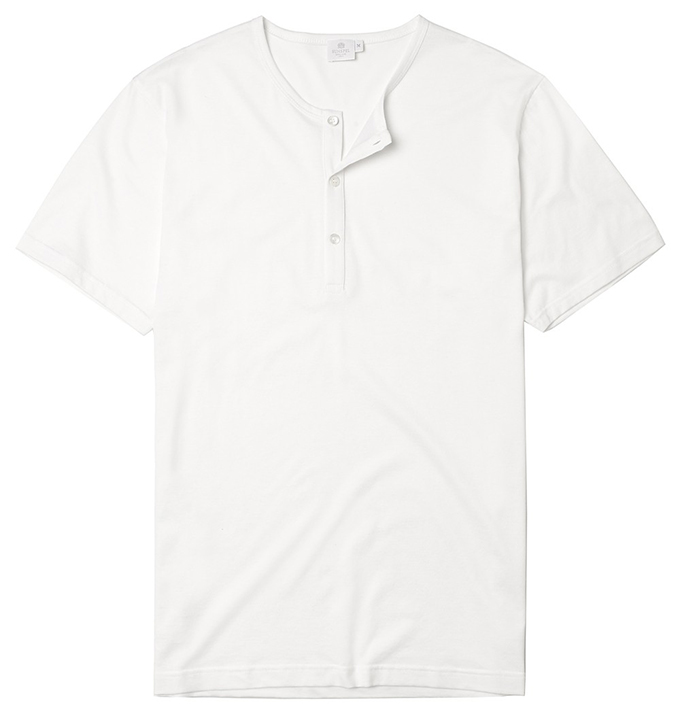 Sunspel Henley_White