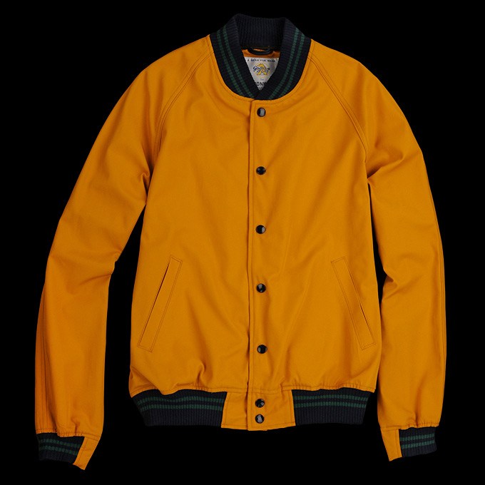 Golden Bear Saratoga Varsity Jacket_Gold