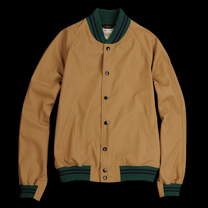 Golden Bear Saratoga Varsity Jacket_Khaki