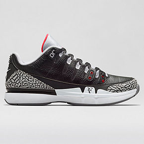 Nike Court Zoom Vapor AJ3 In Black